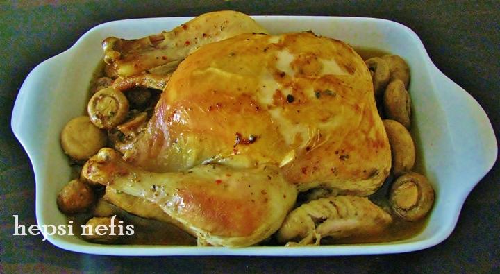 mantarlı tavuk