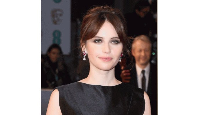 Felicity Jones Hair Bafta