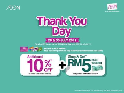 AEON Member Day Discount Free Cash Voucher