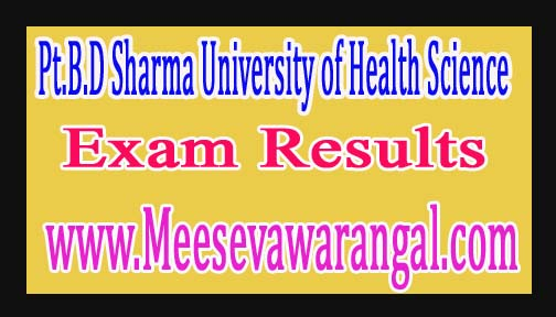 Pt.B.D Sharma University of Health Science B.P.O Ist Year Annual Sept 2016 Exam Results