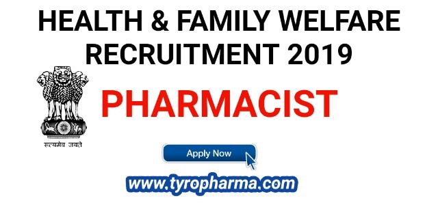 Pharmacist Job in Department of Health & Family Welfare (DH&FWS)