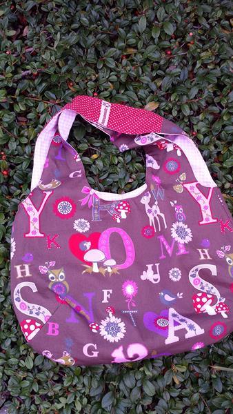 Reversiblebag in braun-rosa
