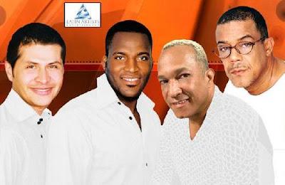 Foto de los cantantes del Grupo Niche sonriendo