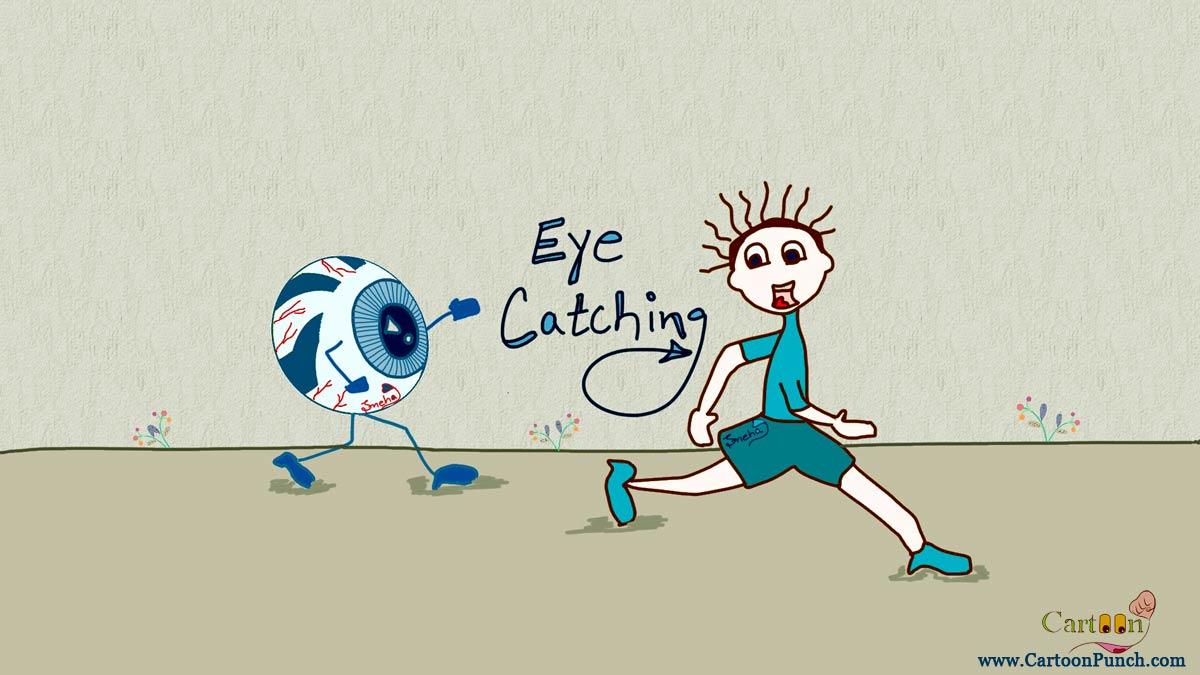 eye catching running boy cartoon illustration by sneha