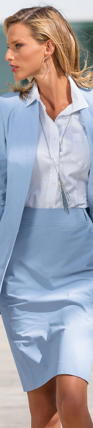 Madeleine Jacket and Skirt in Baby Blue