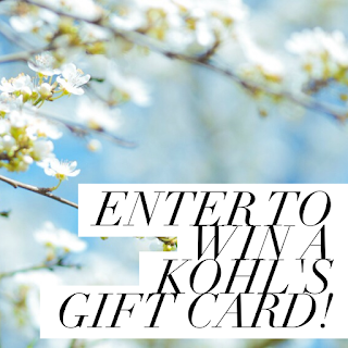 Enter to win the Kohl's Gift Card Giveaway. Ends 4/11