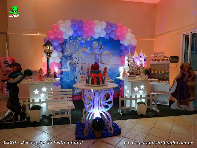 Decoração infantil Os Enrolados (Rapunzel) - festa tema de aniversário - Provençal simples