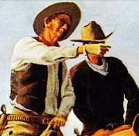 two cowboys talking (image)