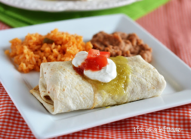 Chicken Chimichangas are filled with flavorful shredded chicken,Monterey jack cheese and diced green chilies. Life-in-the-Lofthouse.com