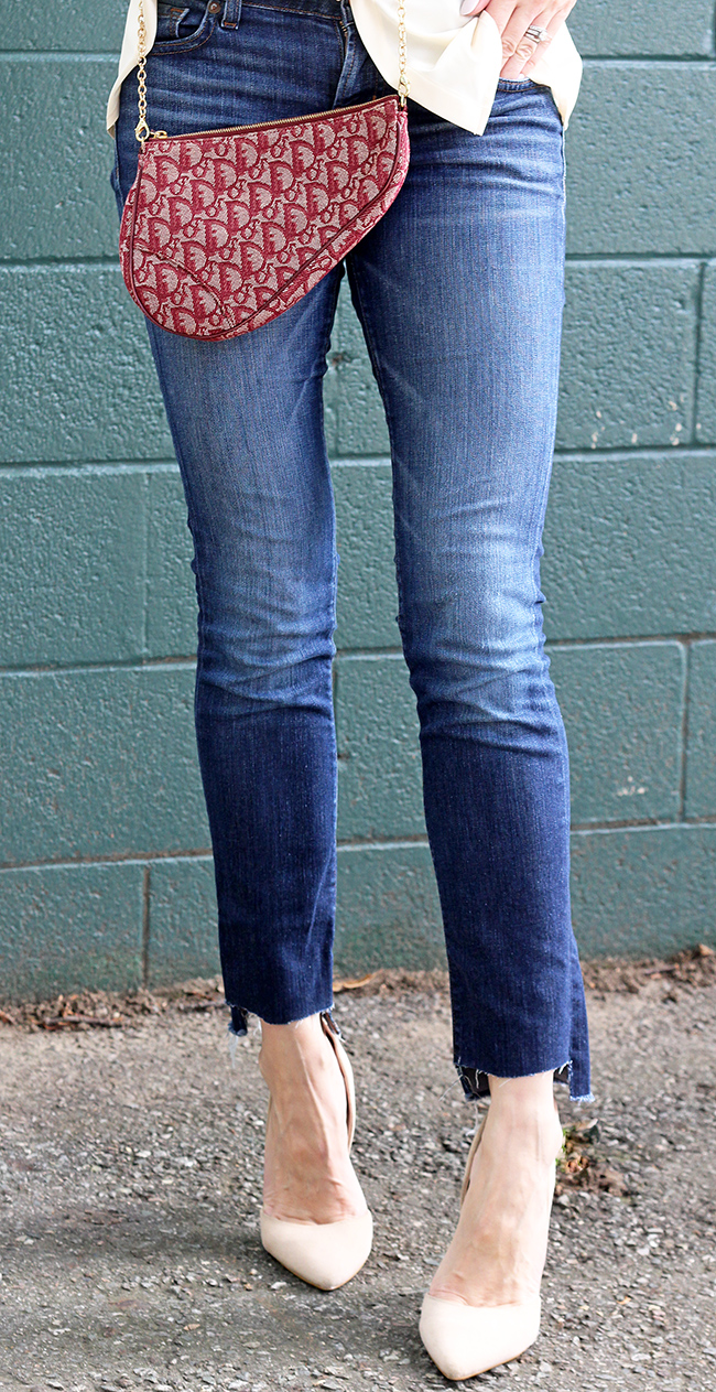 how to make step hem jeans