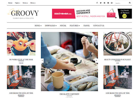 Groovy Fashion Magazine Blogger Template | OddThemes