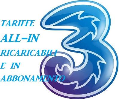 Offerte Tre All In, Tariffe Ricaricabili e in Abbonamento: Costi ...