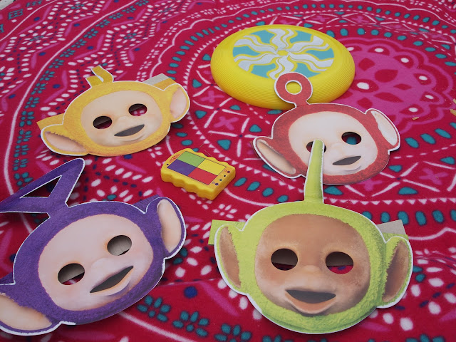 Teletubbies masks and phone