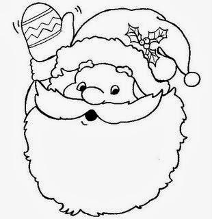 Desenhos de Papai Noel para colorir