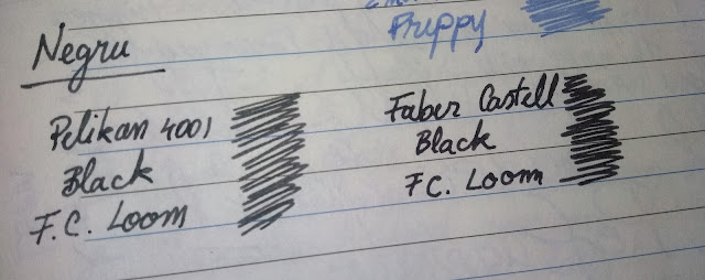 black ink faber castell vs pelikan 4001 fountain pen