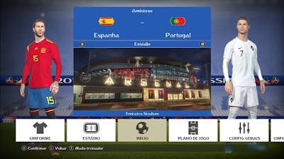 PES 2018 Theme World Cup 2018 Graphic Menu by Arthur Torres
