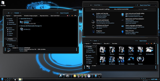 Download skin pack alienware blue