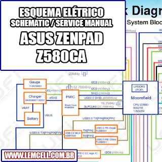 Esquema Elétrico Smartphone Celular ASUS ZenPad S 8.0 Z580CA Manual de Serviço   Service Manual schematic Diagram Cell Phone ASUS ZenPad S 8.0 Z580 CA      Esquematico Smartphone Celular ASUS ZenPad S 8.0 Z580 CA