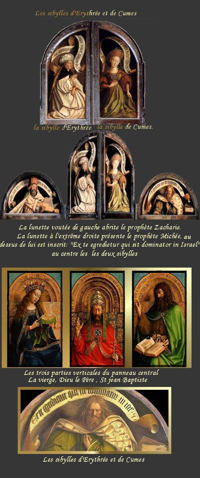 art, flemeish painters,retable, peinture flamande ,sibylles ,Erythrée , Cumes,prophète Michée,