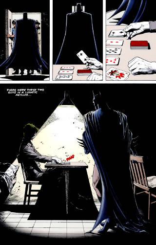 Batman interrogating the Joker