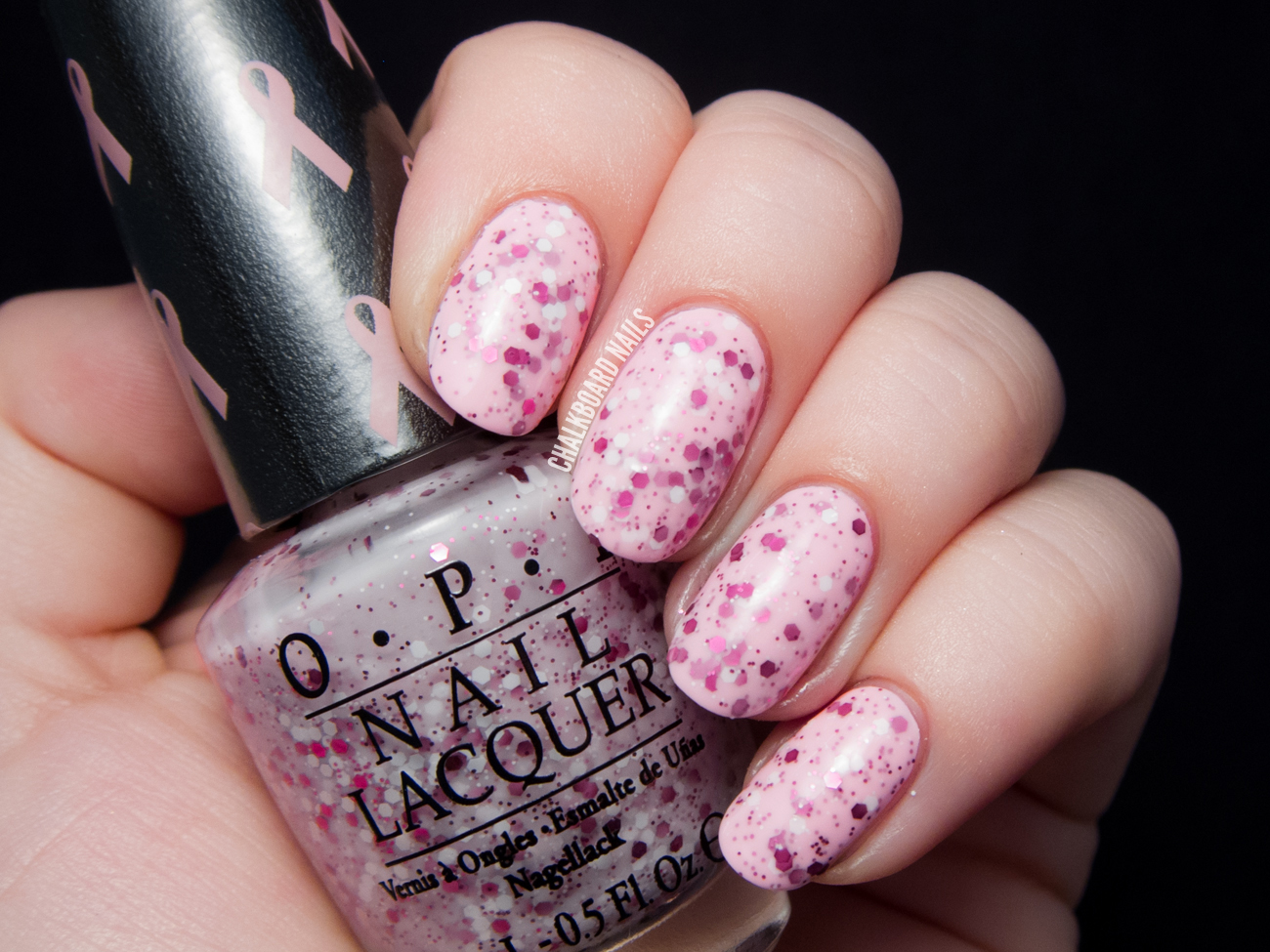 OPI The Power of Pink via @chalkboardnails