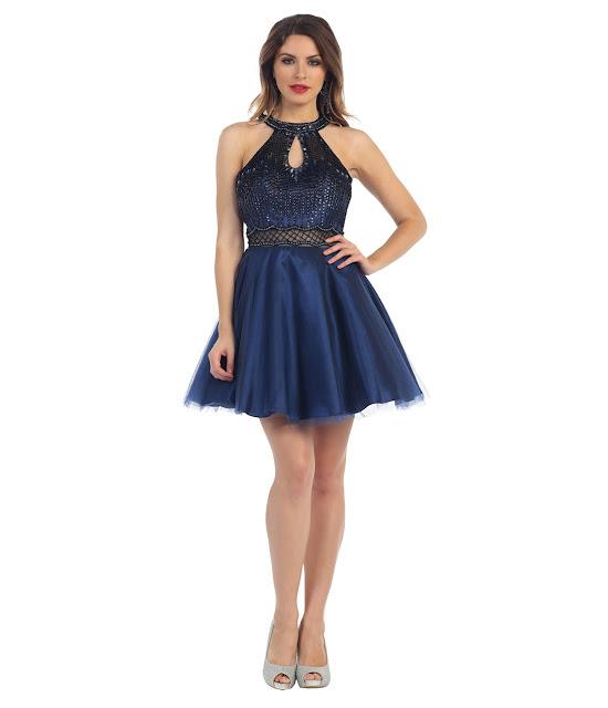 vestidos cortos de fiesta para señoritas