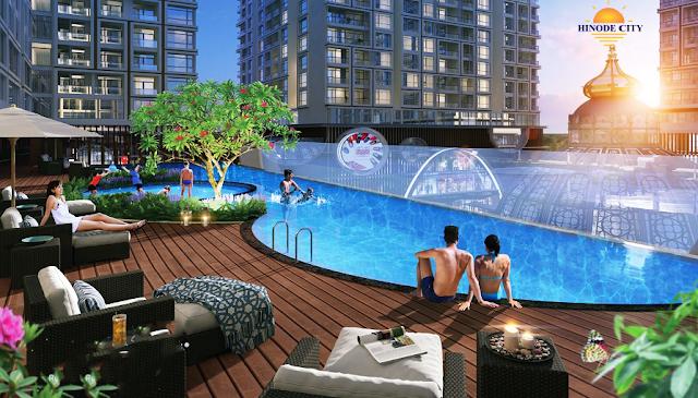 bể bơi ngoài trời dự án 201 Minh Khai