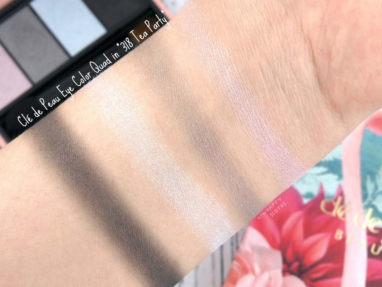 "Clé de Peau | Holiday 2018 Féeries d'Hiver Collection | Eye Color Quad in ""318 Tea Party"": Review and Swatches"