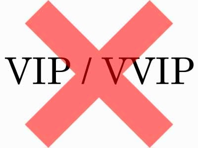 VVIP, VIP stickers banned from vehicles