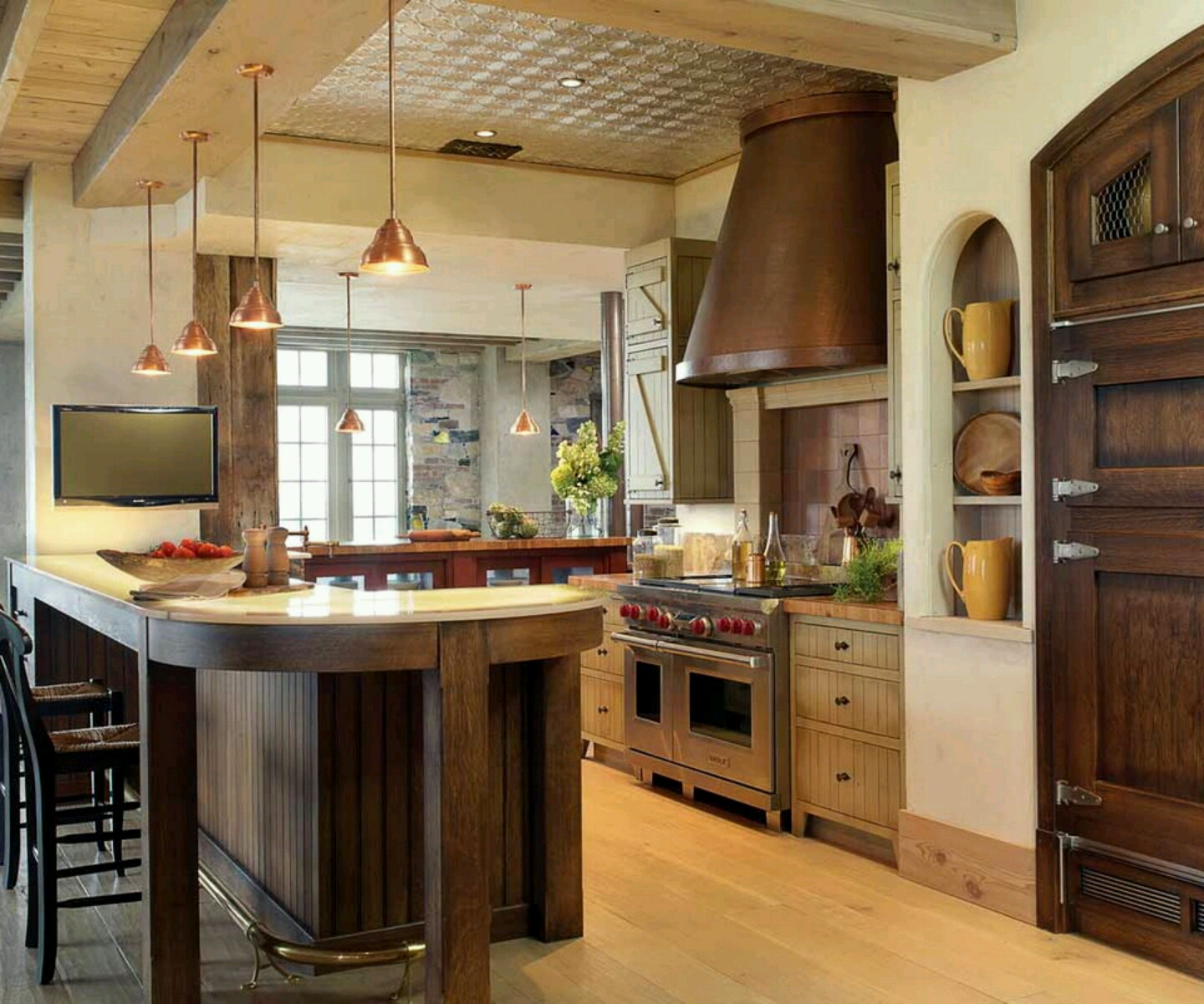 Modern home kitchen cabinet designs ideas. | New home designs