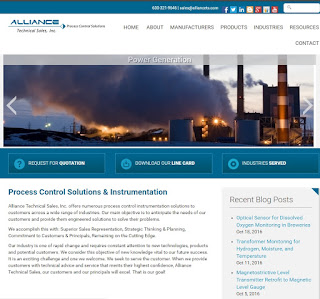 home page of website for alliance technical sales
