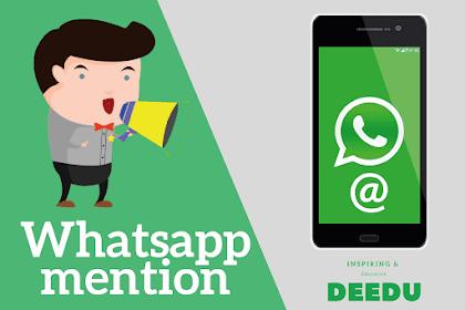 Fitur Mention dalam Grup Whatsapp