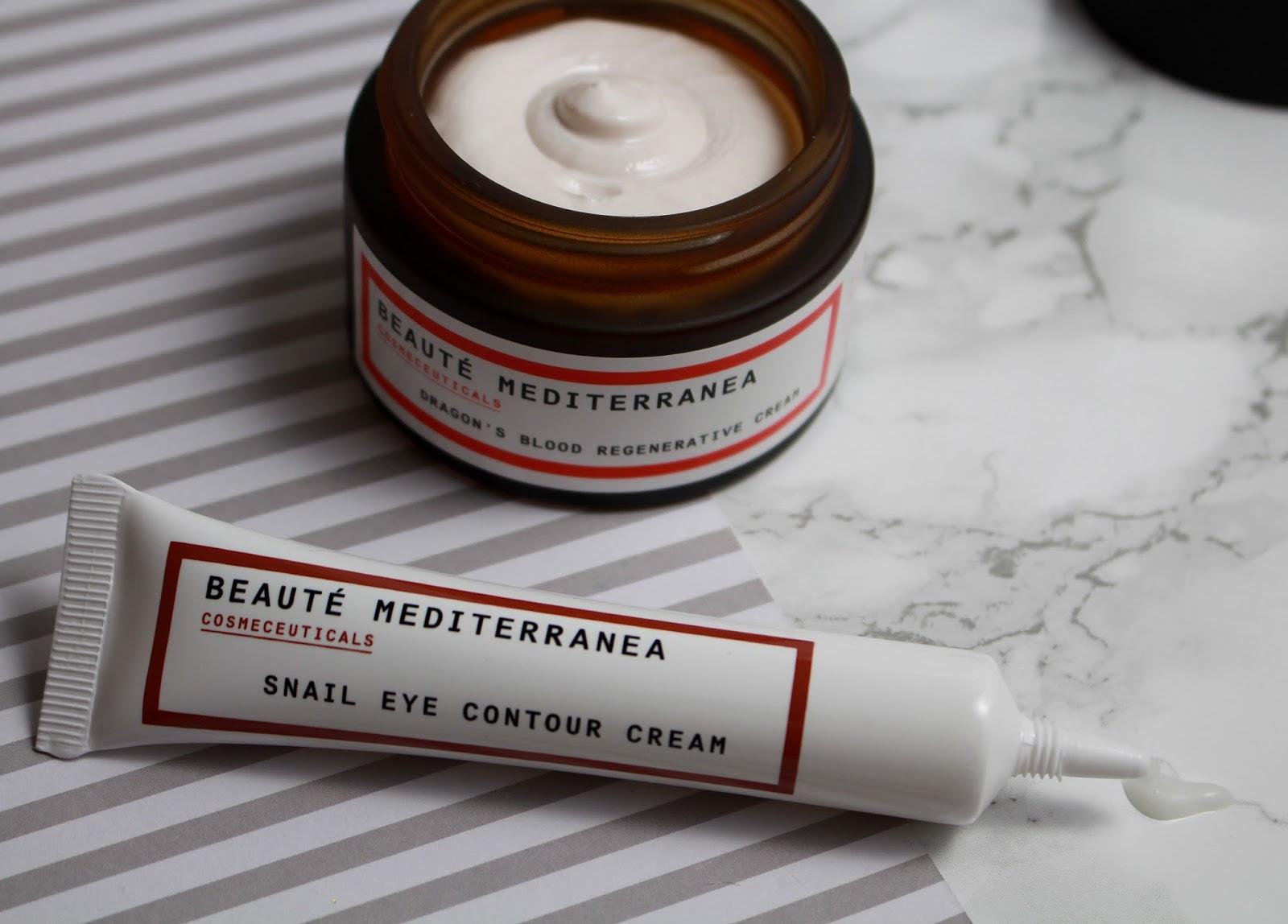Mitonia Beaute Mediterranea, Mitonia Review, Mitonia MEDITERRANEA SNAIL EYE CONTOUR CREAM, BEAUTÉ MEDITERRANEA DRAGON'S BLOOD REGENERATIVE CREAM, Blogger mail