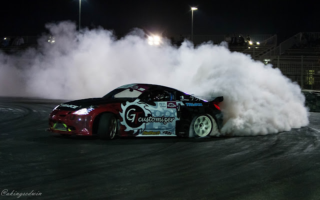 Saoud Alattiyah in action in qatar drift championship