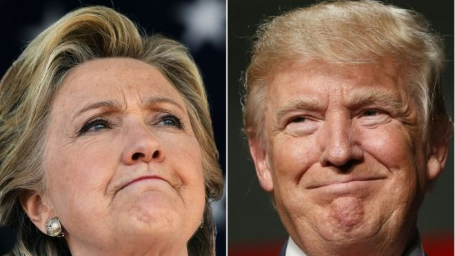 US election 2016: Battlegrounds targeted as polls tighten