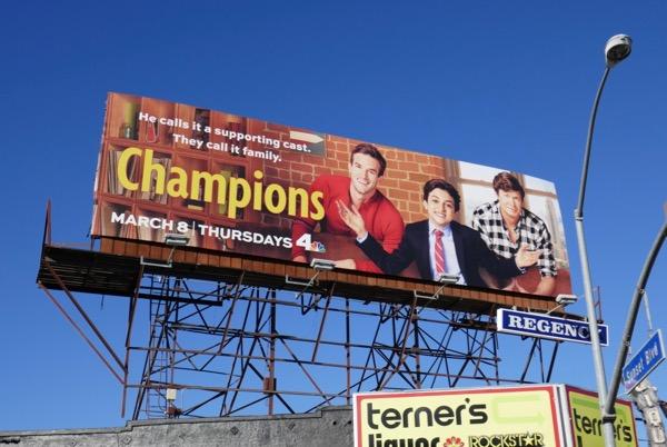 Champions series premiere billboard