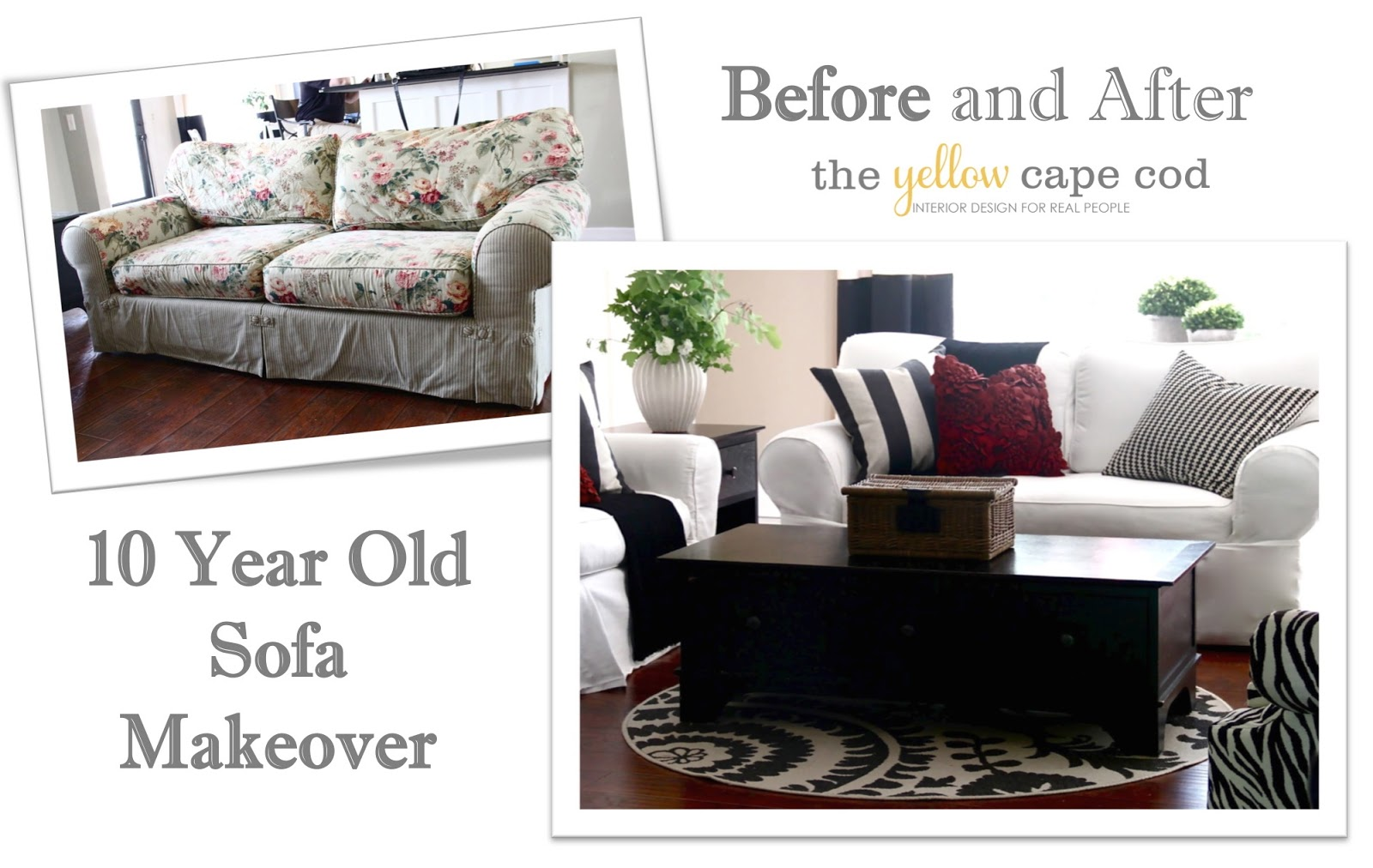 repair sofa cushion shah alam pottery barn leather sectional the yellow cape cod ten year old makeover