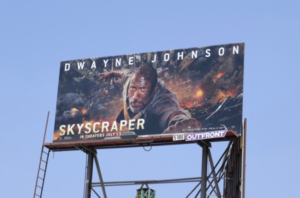 Skyscraper movie billboard