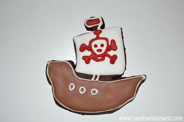 Galleta de barco del teletubbie pirata