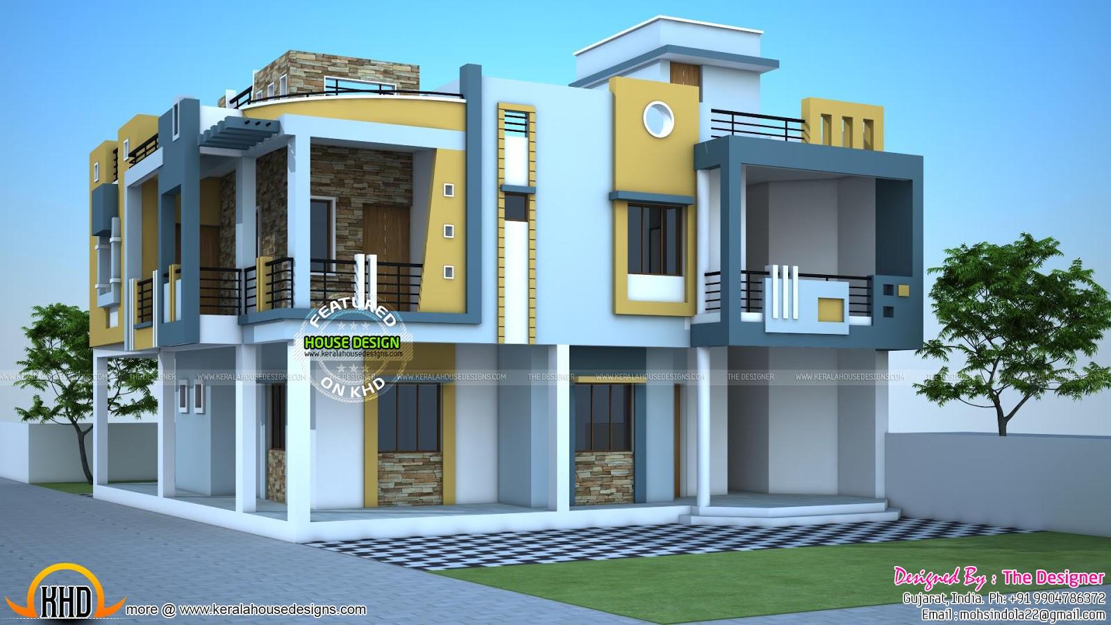modern duplex house india kerala home design floor plans september kerala home design floor plans