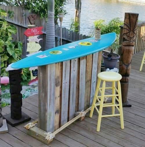 Surfboard Table Bar