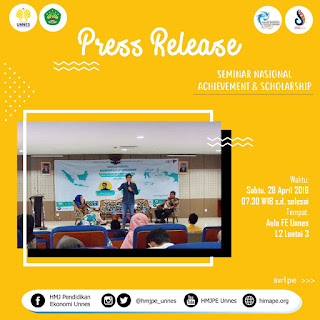 PRESS RELEASE SEMINAR NASIONAL ACHIEVEMENT AND SCHOLARSHIP