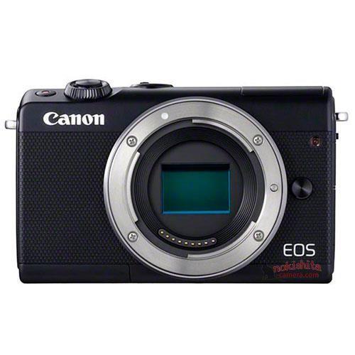 Canon EOS M100, черный, вид спереди