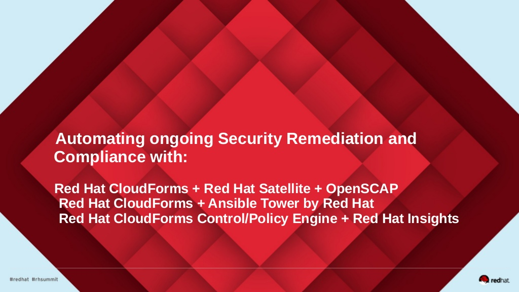 Announcing General Availability of Red Hat CloudForms 4 6
