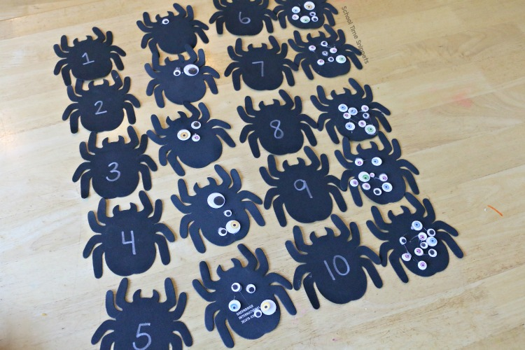 spider number matching 1-10