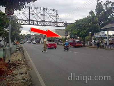 belok kanan menuju Jalan Pramuka