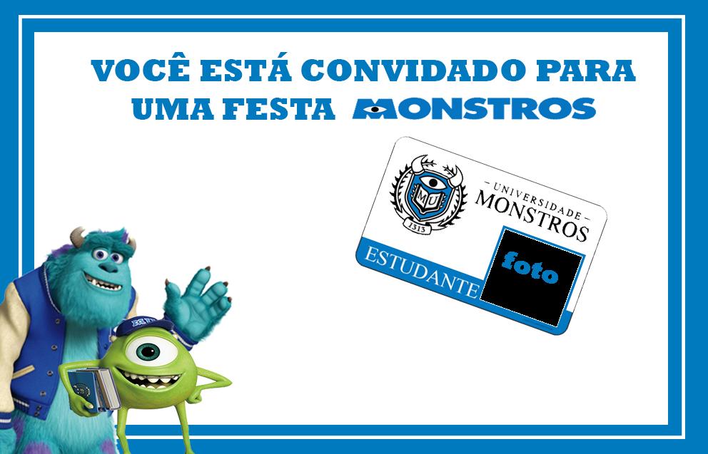 Para hacer invitaciones, tarjetas, marcos de fotos o etiquetas, para imprimir gratis de Monstruos.