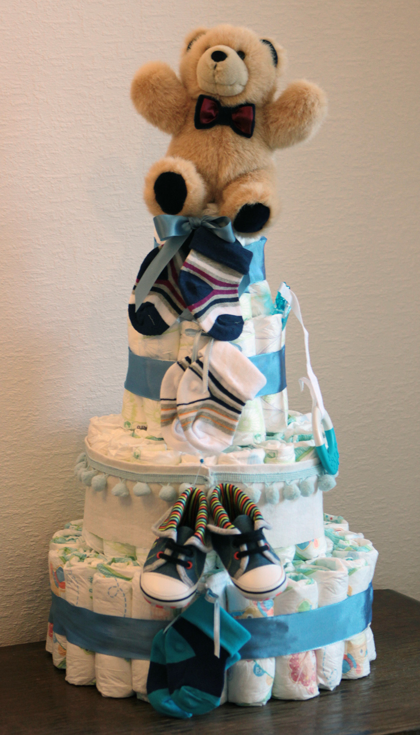 Diaper Cake Instructions Without Rolling Diaper Cake