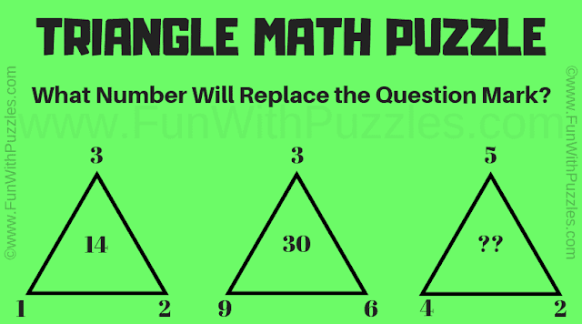 Can you find the missing number in this triangle math puzzle?