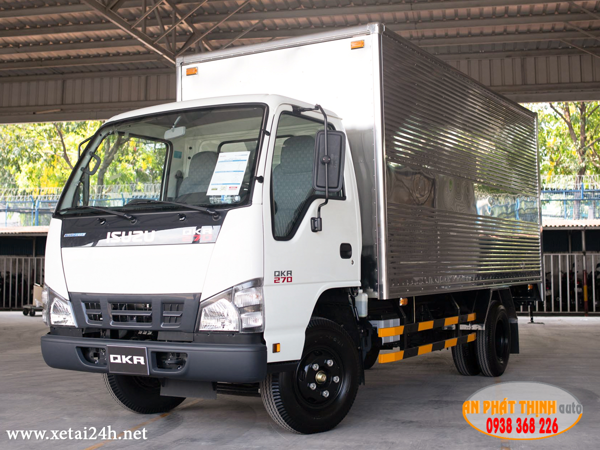QKR77HE4 thùng dài 4m4, tải trọng 1990kg hoặc 2300kg vào thành phố